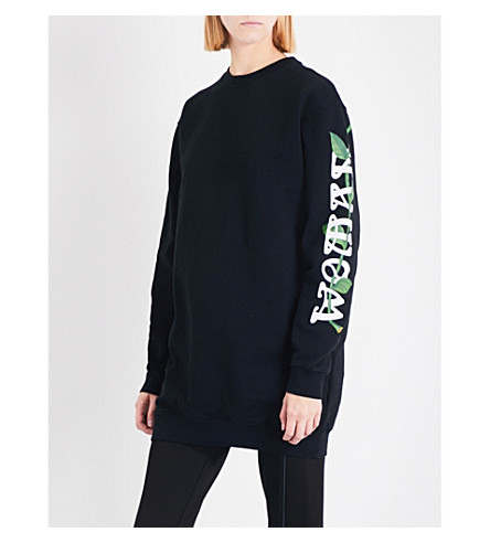 OFF-WHITE C/O VIRGIL ABLOH Othello Flower cotton-jersey sweatshirt (Black