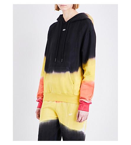 OFF-WHITE C/O VIRGIL ABLOH Tie-dye cotton-jersey hoody (Tye dye
