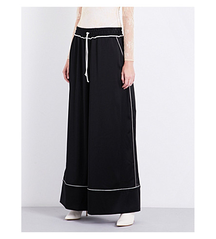 OFF-WHITE C/O VIRGIL ABLOH Wide-leg satin trousers (Black+no+colour