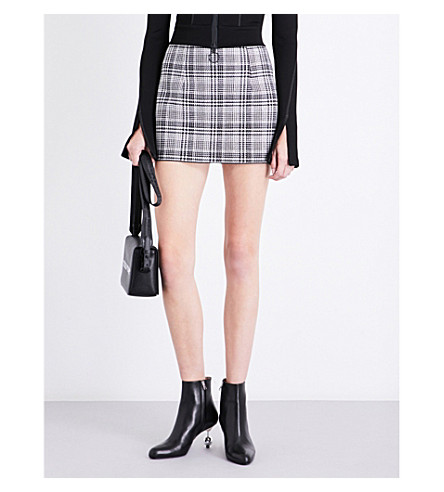 OFF-WHITE C/O VIRGIL ABLOH Checked high-rise woven skirt (Galles+allover