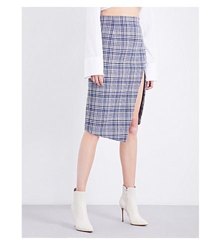 OFF-WHITE C/O VIRGIL ABLOH Split check woven skirt (Galles+nero+allover