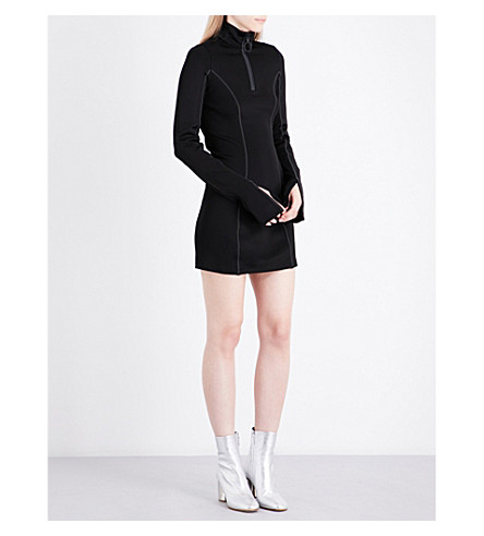 OFF-WHITE C/O VIRGIL ABLOH Athleisure jersey mini dress (Black+med+grey