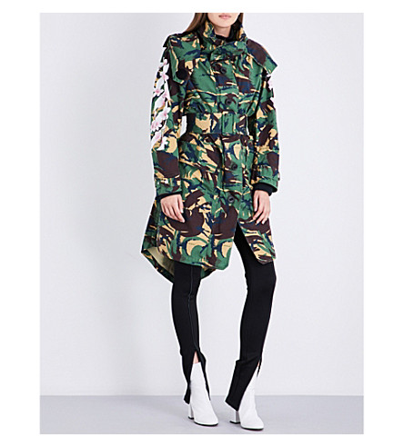 OFF-WHITE C/O VIRGIL ABLOH Camouflage-print cotton-drill parka coat (Camo