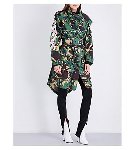 OFF-WHITE C/O VIRGIL ABLOH Camouflage-print cotton-drill parka coat (Camo