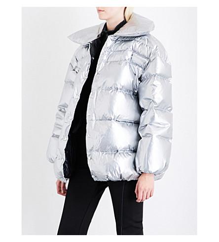 OFF-WHITE C/O VIRGIL ABLOH Oversized metallic puffer jacket (Grey