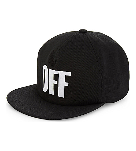 OFF-WHITE C/O VIRGIL ABLOH OFF cotton flat-peak cap (Black+white