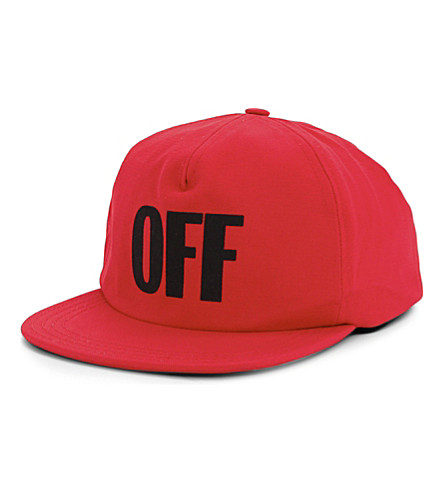 OFF-WHITE C/O VIRGIL ABLOH OFF cotton snapback cap (Red+black