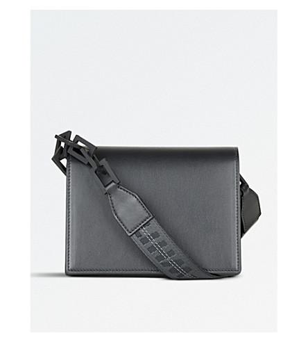OFF-WHITE C/O VIRGIL ABLOH Mini flap leather shoulder bag (Black