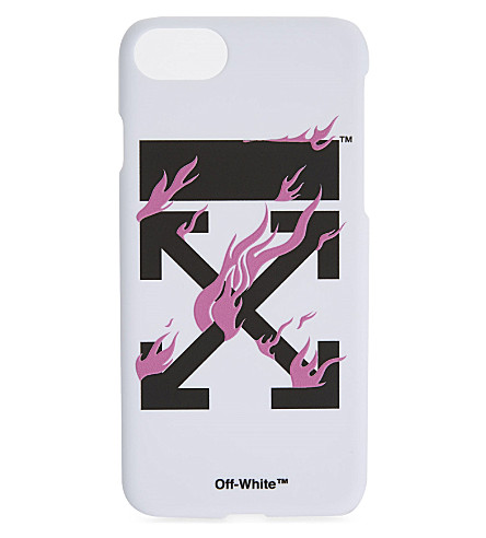 OFF-WHITE C/O VIRGIL ABLOH Fire arrow iPhone case (White+black