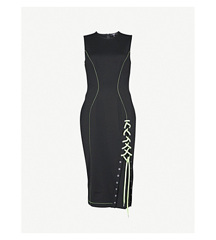 VERSUS VERSACE Corset-detail stretch-crepe dress (Multi-coloured