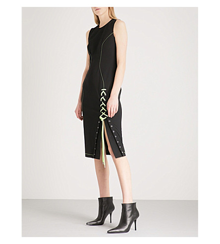 VERSUS VERSACE Corset-detail stretch-crepe dress (Multi-coloured