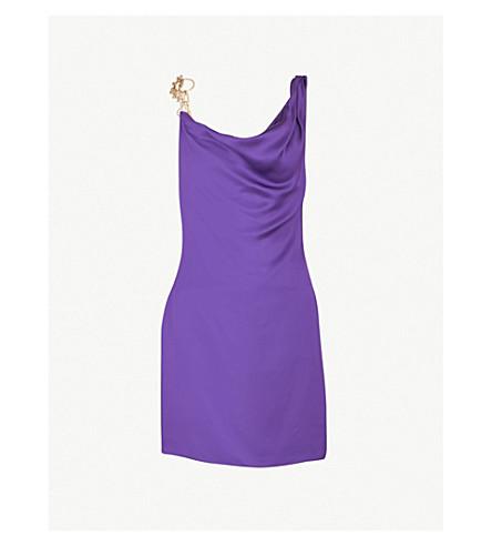VERSUS VERSACE Mini chain satin dress (Purple