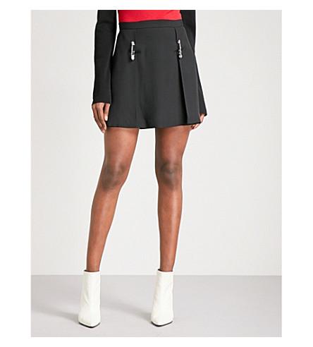 VERSUS VERSACE Saftey pin-detail crepe skirt (Black