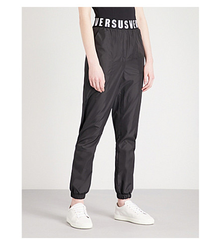 VERSUS VERSACE Logo shell trousers (Black