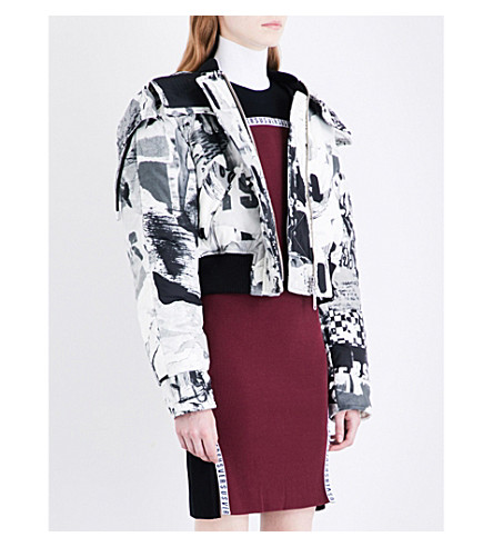 VERSUS VERSACE Scribble-print shell jacket (Black+white