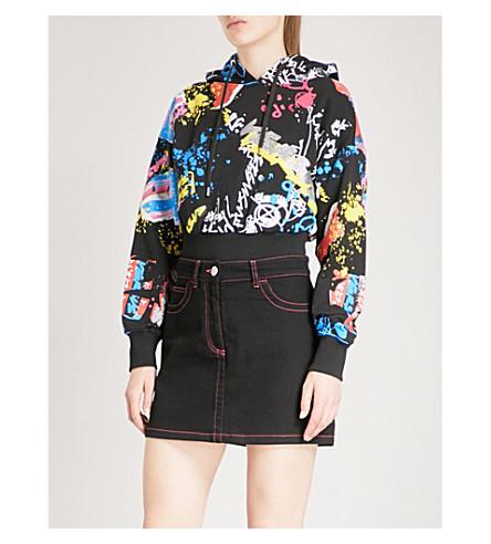 VERSUS VERSACE Graffiti-print cotton-jersey hoody (Multi-coloured