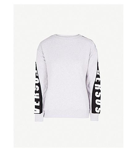 VERSUS VERSACE Logo-detail cotton-jersey sweatshirt (Light+grey
