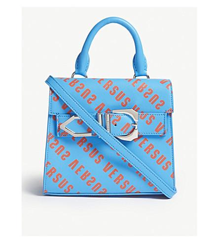 VERSUS VERSACE Iconic Buckle logo-print leather bag (Orange-tur
