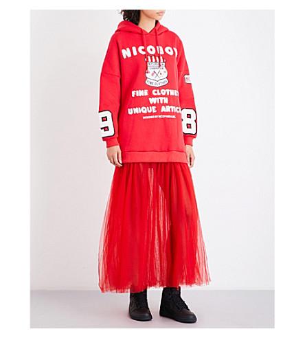 NICOPANDA Nicoboy jersey hoody dress (Red