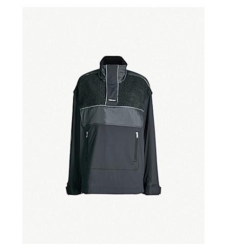 AMBUSH Contrast-panel padded-shell and fleece jacket (Grey