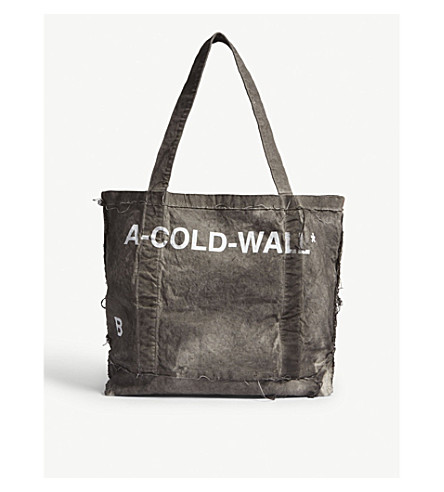 A-COLD-WALL Large cotton tote (Grey