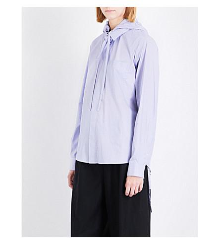 CRAIG GREEN Hooded cotton shirt (Stripe