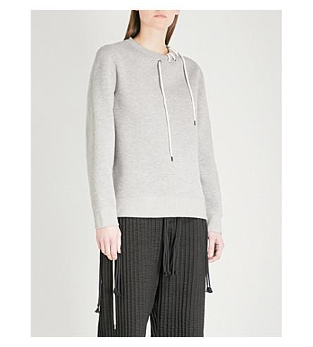 CRAIG GREEN Lace-up detail neoprene sweatshirt (Grey