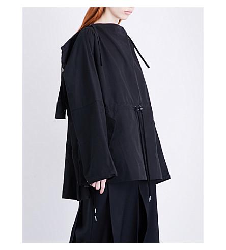 CRAIG GREEN Self-tie cotton-blend hoody (Black