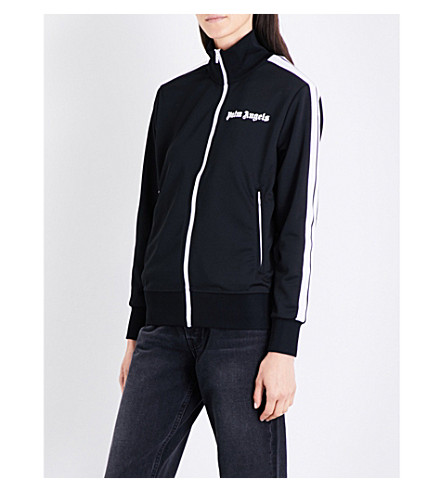 PALM ANGELS Classic sports-jersey track jacket (Black+white