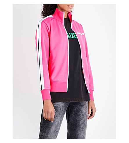 PALM ANGELS Classic sports-jersey track jacket (Pink+white