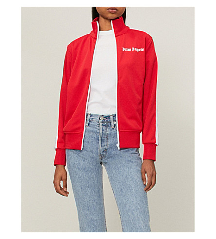 PALM ANGELS Classic logo-embroidered woven jacket (Red