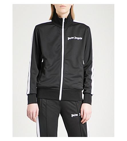 PALM ANGELS Side-stripe jersey jacket (Black