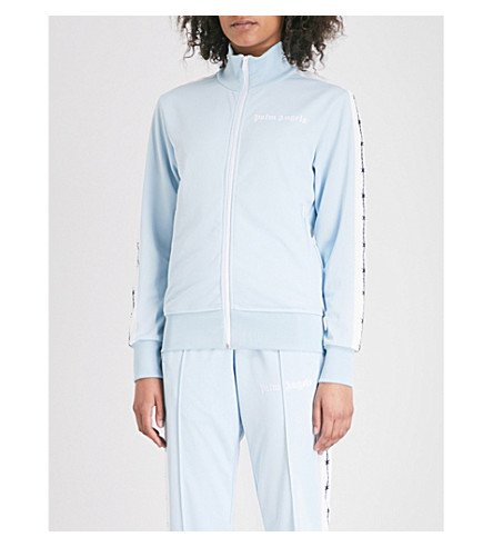 PALM ANGELS Barbwire side-stripe jersey jacket (Light+blue