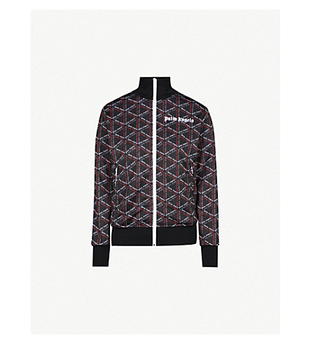 PALM ANGELS Logo-print jersey jacket (Black