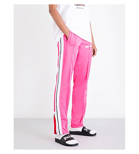 PALM ANGELS Classic sports-jersey track jogging bottoms (Pink+white