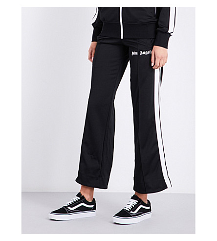 PALM ANGELS Classic sports-jersey track jogging bottoms (Black+white