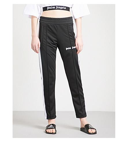 PALM ANGELS Side-stripe jersey jogging bottoms (Black