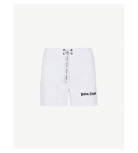 PALM ANGELS Sundek Iconic high-rise shell shorts (White