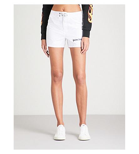 PALM ANGELS Sundek Iconic high-rise shell shorts (White