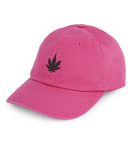 PALM ANGELS Vintage weed cap (Pink+white