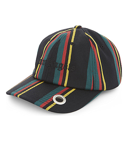 PALM ANGELS Striped baseball cap (Multi