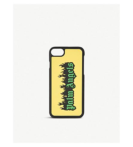 PALM ANGELS Burning logo-print iPhone 7 case (Yellow
