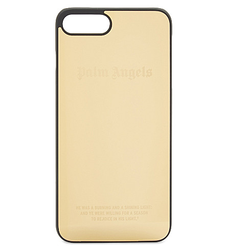 PALM ANGELS Metallic iPhone 7 Plus case (Gold