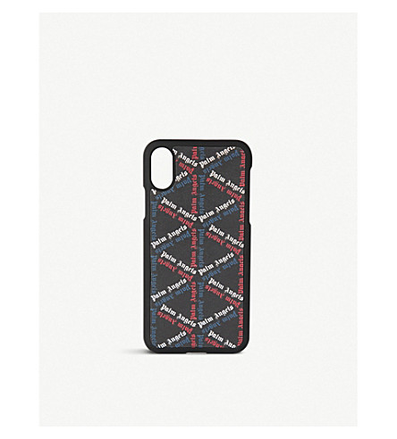 PALM ANGELS Night monogram-print iPhone 8 case (Black