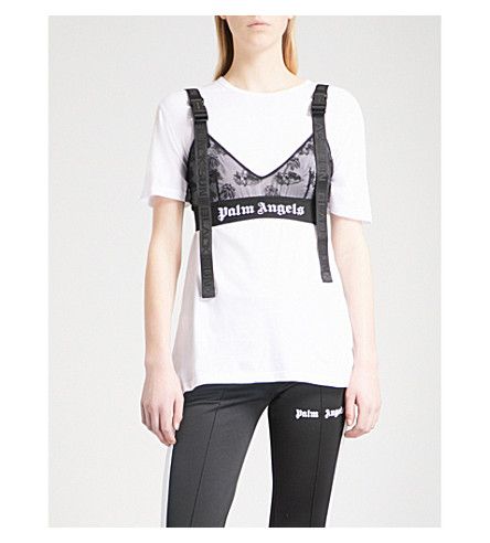 PALM ANGELS Island mesh bra (Black