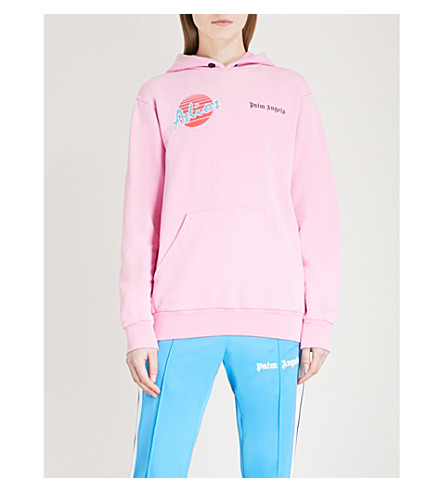 PALM ANGELS Adios cotton-jersey hoody (Pink