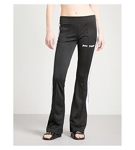PALM ANGELS Side-stripe flared jersey jogging bottoms (Black