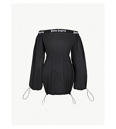 PALM ANGELS Off-the-shoulder balloon dress (Black