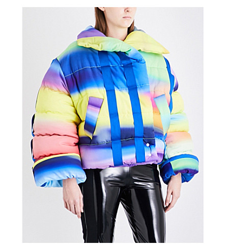 FYODOR GOLAN Quilted crepe puffer jacket (Spray+print