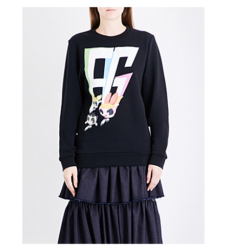 FYODOR GOLAN Powerpuff Girls cotton-jersey sweatshirt (Black+ppg